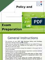 Biz Policy and Strategy - Exam Preparation Slides - 19.9