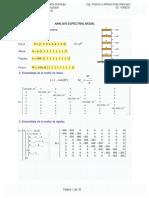 Analisis Espectral Modal MATHCAD