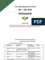 DAFTAR DIAGNOSIS Dan Tindakan Orthopaedi INA-CBG Baru Dan PlafonB
