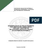 Valores de Referencia Hematologicos en Tucanes