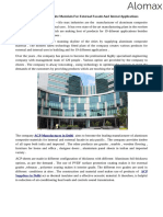 Get the Aluminum Composite Materials for External Facade and Interal Applications