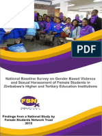 GBV in Zim Tertiary Institutions Baseline Survey Report