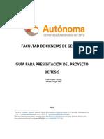 Guia Presentacion Proyecto de Tesis- 2016