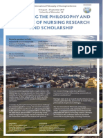 philosophy and practice of nursing research and scholarship conference 2