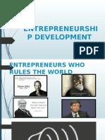 Entrepreneurship Development 1st Lecture