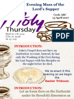 Bishops Homily - Holy Thursday