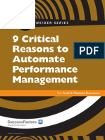 9 Critical Reasons to Automate Performance Management