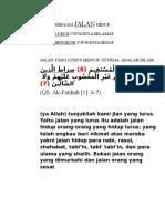 ISLAM SEBAGAI JALAN HIDUP.rtf