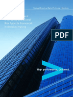 Accenture Embedding Operational Risk Appetite Framework in Decision Making Large European Bank