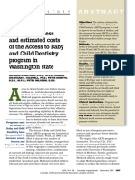 The Effectiveness and Estimated Costs of the Access to Baby and Child Dentistry Program in Washington State