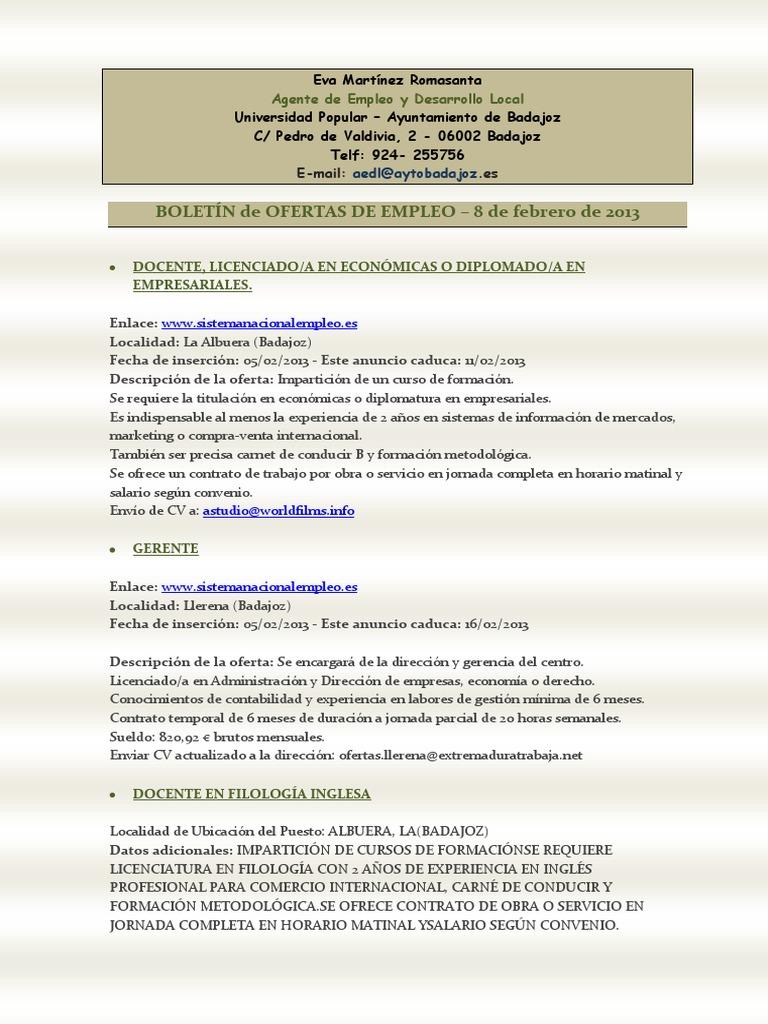 Boletín de empleo y formación - AEDL - 8 febrero.pdf