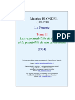 M. Blondel, La Pensée II