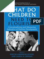 What Children need to flourish