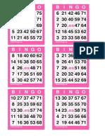7 COM 42 Cartones Bingo 75 Bolas
