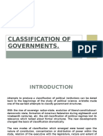 Classification and Functions of Government