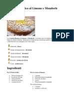 Crostata Rustica Al Limone e Mandorle