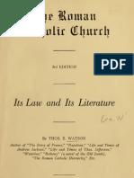 (1928)  The Roman Catholic Church
