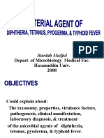 Bacterial Agent of Trop Inf