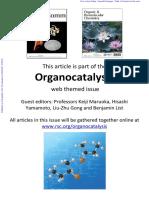 ChemComm Organocatalysis a Web Collection