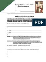 Middle Ages Lecture Handout 12-12-14