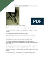 Frases Celebres de Simon Bolivar