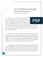 Management is Vital Part of Leadership