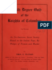 (1928) The 4th Degree Oath of the Knights of Columbus