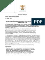 Zuma Progress Media Statement