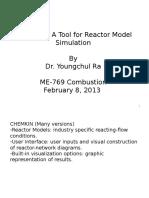 Chemkin Lecture - Youngchul Ra