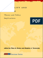 Inequality and Growth-Theory and Policy Implications-Theo S. Eicher, Stephen J. Turnovsky