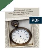 Die Wichtigkeit eines islamischen Testamentes für einen Muslim