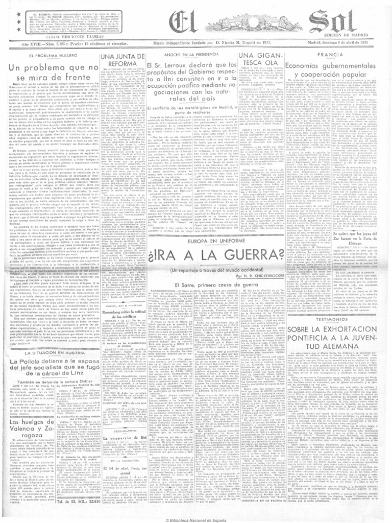 El Sol (Madrid. 1917). 8-4-1934