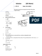 CPT 16 XI Physics Solution Advanced
