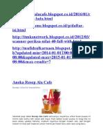 Aneka Resep Minuman Ala Cafe
