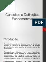 Conceitos e Definições da Termodinâmica