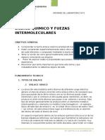Labo 5 Enlace Quimico y Fuerzas Intermoleculares-fiqt-uni