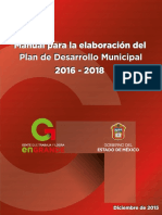 Manual Para La Elaboracion de PDM 2016-2018 Versión Final