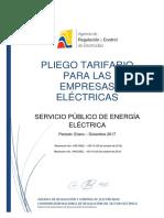 Pliego y Cargos Tarifarios SPEE 2017
