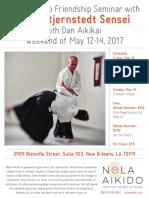 Lars Stjernstedt Sensei Friendship Seminar at NOLA Aikido May 2017