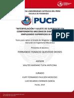 Quevedo Fernando Interpolacion Superficies Componentes Mecanicos Digitalizados Superficies B-spline