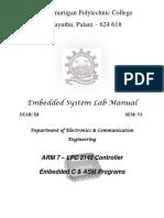 Embedded Lab Manual Final