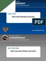 unit five - microsoft windows security