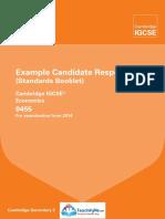 Economics (0455) Example Candidate Response 2014