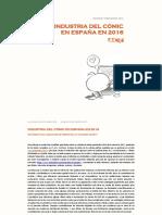 Informe Tebeosfera. La industria de la historieta en España en 2016