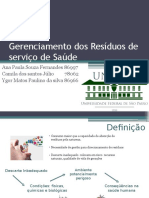Gerenciamento Dos Resíduos de Serviço de Saúde