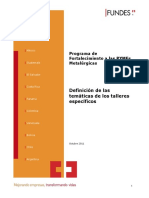 Tematicas de Talleres PYMES Metalurgicas