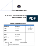 Plan_Anual SSOMA 2016-Central Hidroelectrica