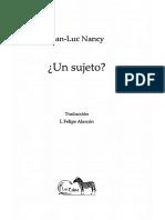 Nancy Jean Luc - Un Sujeto