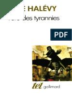 (Collection Tel 168) Elie Halévy-L'ère des tyrannies _ études sur le socialisme et la guerre-Gallimard (1990)