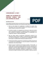 FoAAP_Comunicado 3_2017. Sobre El Acuerdo de Gestión